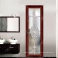 Respectueux de l'environnement, moins cher, personnalisez la conception de porte en verre de salle de bains en aluminium avec rupture thermique