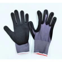 Foam latex polyester protective  pu working  glove