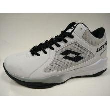 Retro Branco PU / malha trekking sapatos para homens