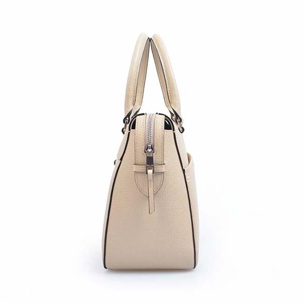 Women Brown Shoulder Crossbody Business Leather Laptop Bag
