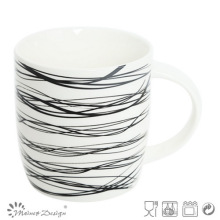 12oz New Bone China Mug with Decal Design