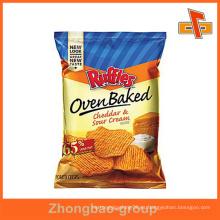 Guangzhou fabricante wholssale huecograbado impreso personalizado patatas fritas empaquetado bolsa
