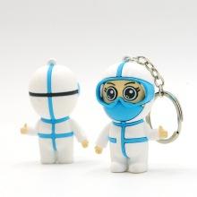 Противоэпидемический брелок для ключей с декором в виде обратного доктора-путешественника
