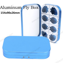 Nouvelle boîte de pêche à la mouche en aluminium de haute qualité