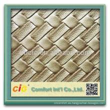 PVC decorativo papel pintado/PVC cuero decorativo metálico/PVC decorativo con Perla