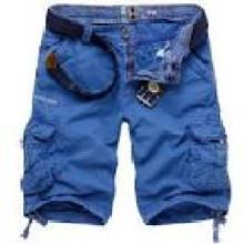 Men's Cargo Moda Algodão Lavado Pocket Shorts Casual