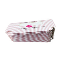Clear Window Pink Stripe Eyelash Paper Box