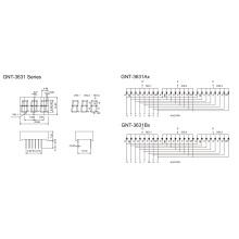 0,36 polegadas 3 dígitos 7 segmento de exibição (GNS-3631Ax-Bx)
