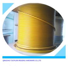 Cuerda de alambre de acero inoxidable revestido de plástico