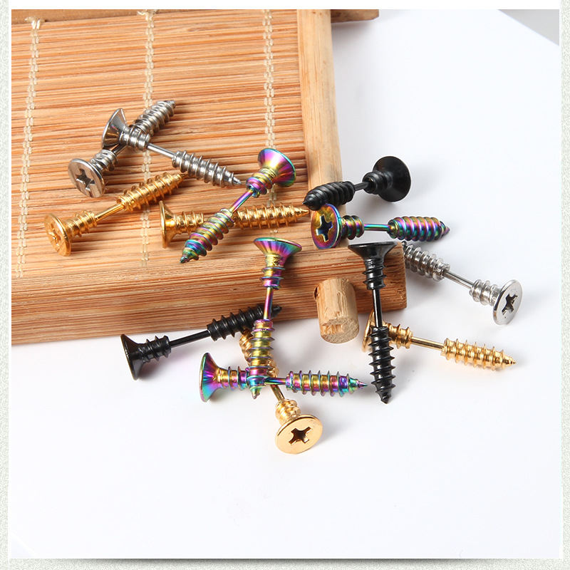 Stud Screw Earrings