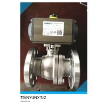 Válvula de bola de fundición de acero inoxidable ISO 5211