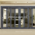 Gray aluminum window mullion with strong stainless steel mosquito door