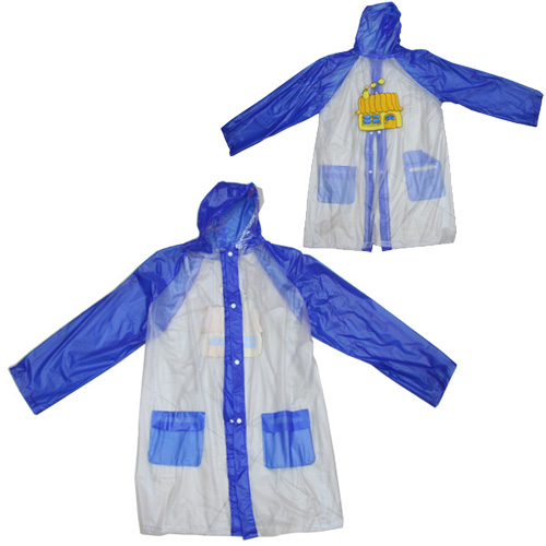 Fashionable Kids Pvc Raincoat