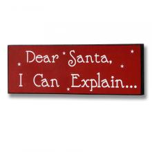 Dear santa I can explain wall hanging