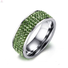 New Cubic Zirconia Stainless Steel Lucky Stone Silver Wedding Finger Rings