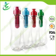 550ml PE Bobble botella de agua de filtro para la venta al por mayor