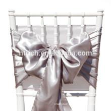 Marco de la silla del satén lavanda, lazos de silla, envolturas para hotel de banquete de boda