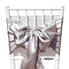 Lavender Satin chair sash, chair ties, wraps for wedding banquet hotel