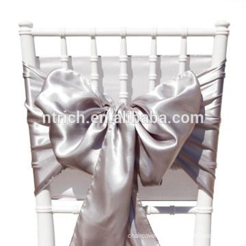 Faixa de lavanda cadeira cetim, laços de cadeira, quebra para hotel do banquete de casamento