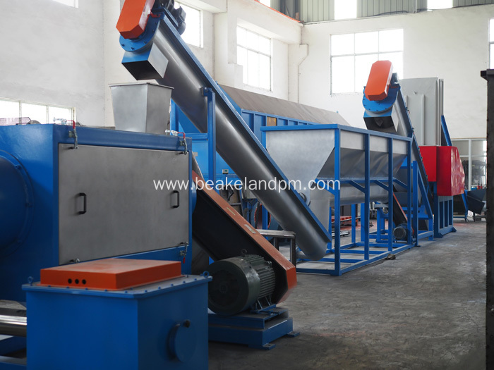 PET bottle washing recycling line