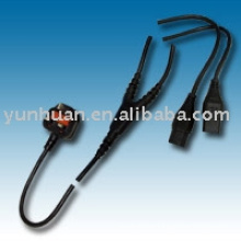 Power Cable 230V grounded cable IEC lead Y style 16a 250v
