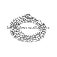 Moda de alta qualidade Metal 304 corrente de aço inoxidável bola