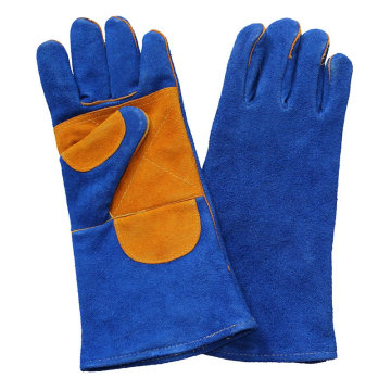 Double Palm Sicherheit Leder Arbeitsschützer Handschuhe