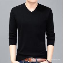 PK18ST089 V pescoço suéter de cashmere homem camisola pulôver