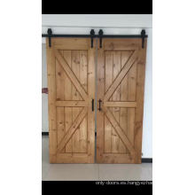 Paneles divisorios de cocina de vidrio movibles con puerta de granero