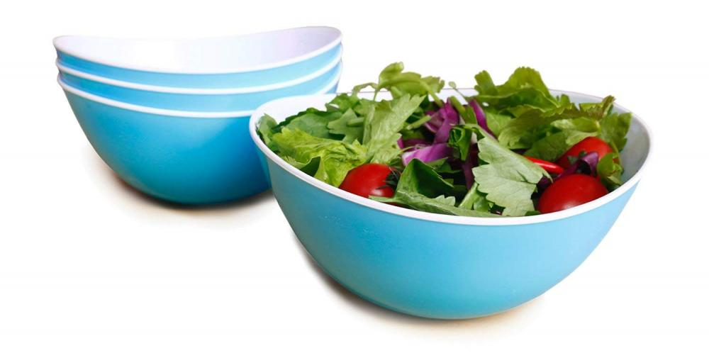 3PCS Plastic Kitchen Salad Mixing Bowl Set
