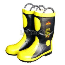 Fhx-01-1 Fire Fighting Boots Adopting Cowhide Leather