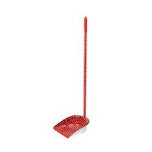 Fabricado en China, tamaño estándar, casa, limpieza roja, plástico, PP, mano larga, recogedor de polvo