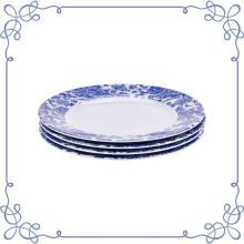 Набор из 4 круглых тарелок из меламина 9 дюймов