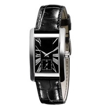 Fashion Wristwatch for Men and Woman Ss Case Calf Leather