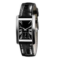 Мода наручные часы для мужчин и женщин Чехол SS телячья кожа