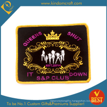 Custom Fashion Queen Shut Club Embroidery Patch (LN-0161)