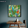 New Spring Green Canvas Painting of Parrot
