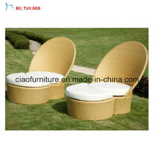 C-Creative Outdoor Rattan Chaise Side Chair with Cushion