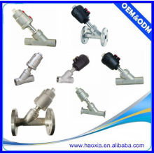 JZF-20 pneumatic control ss angle seat valve two way