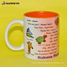 Hot vendendo Quanlity alto 11oz sublimação copos de café de cerâmica / canecas