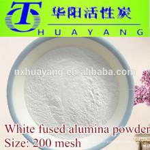Al2O3 99% polvo de alúmina fundida blanca malla 200 utilizado en pulido de acero