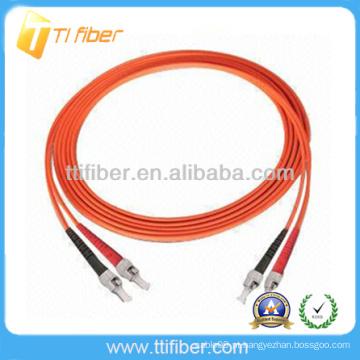 ST / UPC-ST / UPC Multimodo Duplex Fibra óptica patch cord