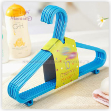 PP Plastic Colorful Clothes Hanger Set of 10 (29*23.8cm)