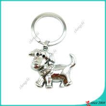Chaîne principale en métal de chien en métal argenté (KC)