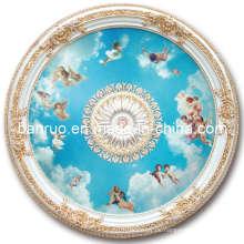 Elegantes Fiberglas Künstlerische Decke mit Engel Dekoration (BRRD15-F1-024)