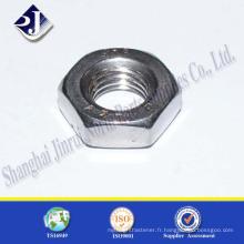 Chine Fournisseur Prix haute qualité DIN934 Ecrou hexagonal