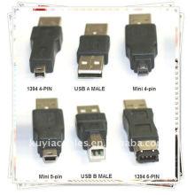 De Buena Calidad 6 en 1 USB Converter Kit de viaje de cable a Firewire IEEE 1394