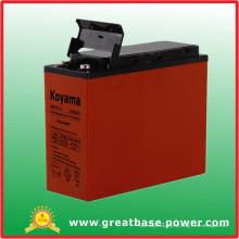 """Bateria de gabinete de alimentação de 19 """"/ 23"""" de alta performance Terminal de acesso frontal AGM Battery 55ah 12V"""