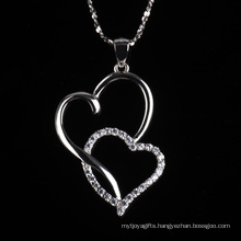 Romatic Love Fashion Heart to Heart Shape Jewelry Necklace