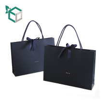 Luxury Black Shopping Advertising Slogans Paper Bag